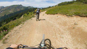 Panoramic video from Châtel bike park