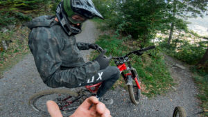 Alpen bike park, plan des pistes VTT avec vidéos owlaps, Piste Japan Line - video owlaps