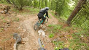 Serre Chevalier bike park, plan des pistes VTT avec vidéos owlaps, Piste rouge L'endur'Hope - video owlaps
